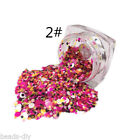 1PC HOT Shine Metal Sparkle Mixed Color Round Nail Art Glitter Powder Sticker