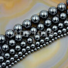 Natural Black MAGNETIC Hematite Gemstones Round Beads16