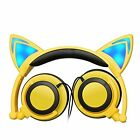 Foldable Cat Ear headset LED Music Lights Sports Headphones Earphone phones ipad
