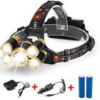 80000LM 5-LED Zoom LED Rechargeable 18650 Headlamp Head Light Torch Charger US günstig
