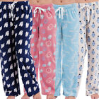 Womens Lounge PJ Pyjamas Pants Warm Fleece Night Wear PJ's Pant Pyjama Ladies
