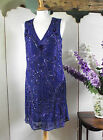 A STAR IS BORN BLUE BEADED EVENING COCKTAIL SHORT DRESS SIZE 10 12 14 16 BNWT X