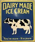 Dairy Made Ice Cream Vintage Metal Sign