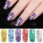 Nature Marble Nail Manicure UV Nail Gel Polish Glitter Sequin Nail Art