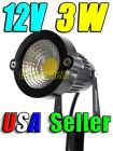 12V Low Voltage 3W Cool Pure White LED Landscape Garden Stake Light Waterproof