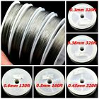 Strong 7 sts Tigertail beading wire nylon-coated stainless steel Clear 0.3-0.6mm