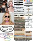 NEW RETRO VINTAGE CHOKER CELEBRITY BOHO PEARL DIAMANTE PENDANT TATTOO CHARM