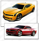 Chevrolet Camaro Side Hockey Throwback Stripes Decals 2014 2015 Pro Motor
