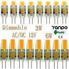 50x 100x Dimmable LED Bulbs G4 3W 6W COB Lights Lamp Silicone Crystal AC DC 12V