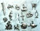 Tibetan Silver Plate Charms Pendants Jewelry Making lots Enamels Christmas
