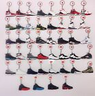 Pick 3/5/10/15/20 Air Jordan Sneaker KeyChain Bred Space Jam Fire Red Carmine