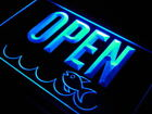 j736-b OPEN Seafood Shop Restaurant NEW Neon Light Sign