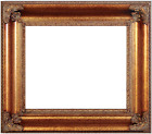 "6"" WIDE LARGE Traditional Ornate Dark Gold Picture Frame 689A"
