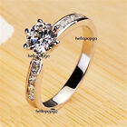 Elegant Jewelry 18K White Gold GP Austrian Crystal Zircon Women Engagement Ring