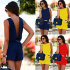 Womens Holiday Mini Playsuit Ladies Jumpsuit Romper Summer Beach Dress 6-14 New