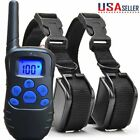 electric dog - 2 in 1 Electric Shock  Anti Bark Collar Dog Train Collar With LCD Remote Control