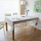 Cotton Table Cloth Crochet Leaf Square Rectangular Home Textile Embroidered-NEW