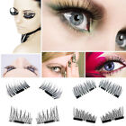2 Pairs Eyelashes 3D Handmade Mink Reusable False Magnet Eye Lashes Us