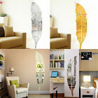 Home Room Removable Feather Mirror Wall Stickers Decal Art Vinyl Decor Mirror