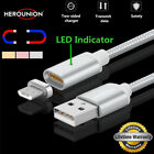 HEROUNION Braided Micro USB Magnetic Cable Data Sync Fast Charging Magnet Cable