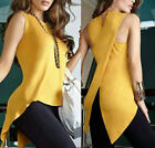 Fashion Womens Summer Vest Top Sleeveless Blouse Casual Tank Tops T Shirt NEW