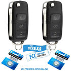 2 Car Key Fob Remote 3B For 98 1999 200 2001 Volkswagen Beetle Golf Jetta Passat