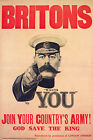 WWI Lord Kitchener Your Country Needs You Poster Print