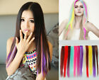 20 Colors 50CM Single Clip In One Piece Hair Extensions human Straight Hair 1 pc