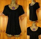 NEW EX M&S LADIES BLACK GOLD SPARKLEY LIGHTWEIGHT PARTY TOP BLOUSE UK 10 - 22