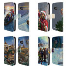 OFFICIAL LONELY DOG CHRISTMAS LEATHER BOOK WALLET CASE COVER FOR HTC PHONES 1