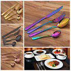 4Pcs/Set Stainless Steel Upscale Dinnerware Silver Cutlery Fork Spoon Teaspoon