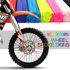 bicycle wheel spoke covers - Wheel Spoke Wraps Kit Rims Skins Covers Guard Protector Motocross Dirt Bike ES