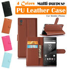 Sony Xperia XA1 Leather Case PSC Multi-purpose Cover Wallet Card Stand Folio