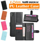 Sony Xperia XA Leather Case PSC Multi-purpose Cover Skin Wallet Card Pouch Stand