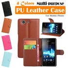 Sony Xperia Z3 Compact / Z3 Mini Leather Case PSC Cover Wallet Card Pouch Stand