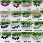 5 Big Hole Faceted Murano Glass Beads Lampwork For European Charm Bracelet