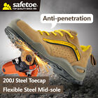 Safetoe Safety Boots Shoes Men Steel Toecap Comfortable Flexible Hiking Us Stock
