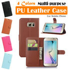 Samsung Galaxy S6 Edge Plus Leather Case PSC Cover Skin Card Wallet Stand Folio