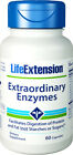 Life Extension Extraordinary Enzymes Supports Proper Protein& Fat Digestion 60ct