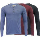 mens jersey top Tokyo Laundry long sleeved t shirt y neck cotton casual fashion