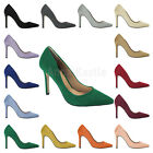 AnnaKastle 100mm Stiletto Heel Womens Suede Pointy Pumps Dress Shoes 14 Colors