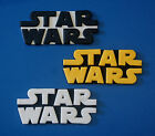 STAR WARS EDIBLE CAKE TOPPER LOGO X 1 - CHOOSE YOUR SIZE AND COLOURS $6.0 AUD