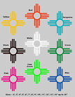 """5"""" ZIA New Mexico State Flag symbol Vinyl Decal Sticker Many colors"""