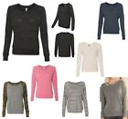 LADIES LIGHTWEIGHT, ECO-JERSEY WIDE NECK, LONG SLEEVE, RELAXED FIT, T-SHIRT S-XL