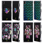 HEAD CASE DESIGNS TREND MIX BLACK CARBON FIBRE FINISH CASE FOR SONY PHONES