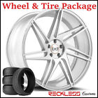 """22"""" BLAQUE DIAMOND BD1 CONCAVE SILVER WHEELS AND TIRES FITS BENTLEY CONTINENTAL"""
