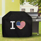 Waterproof Barbecue Cover Universal I love US flag BBQ