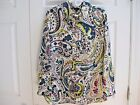 NWT Talbots Multi-color Long Sleeve Button Down Blouse