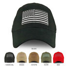 USA Flag Embroidered Structured Brushed Cotton Baseball Cap FREE SHIPPING