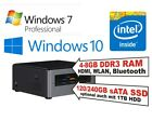 Intel® NUC PC Dual Core CPU, 4-8GB RAM, HDD oder SSD, Windows 10 Home/Pro